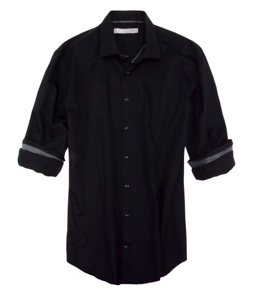 Winnipeg-21068-052s-Long-Sleeves Ton on Ton Cotton Mens shirt