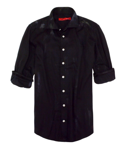 Long-Sleeves-Dyed-Washed-Printed-Mens-Shirt 100% Cotton