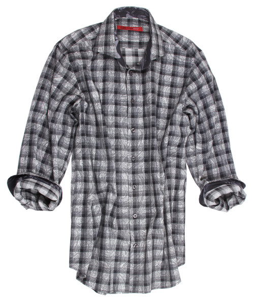 Akron 21019-020-Long-Sleeves-Cotton-Printed-Men's-Shirt