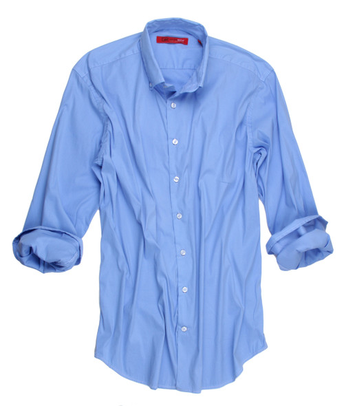 Reno-9095W-018LB-Long-sleeves-washed Buttery soft stretch lt blue Men Shirt