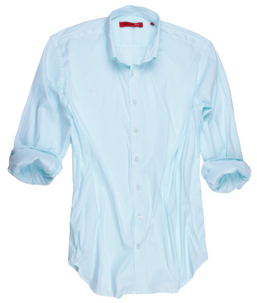 Palm Springs-9095W-018MI-Long-Sleeves-Super-Soft-Stretch Mint Men's Shirt