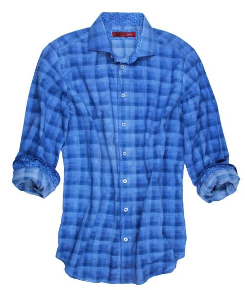 Honolulu-18009W-020-Long-Sleeves-Garment Dyed Cotton Men Shirt