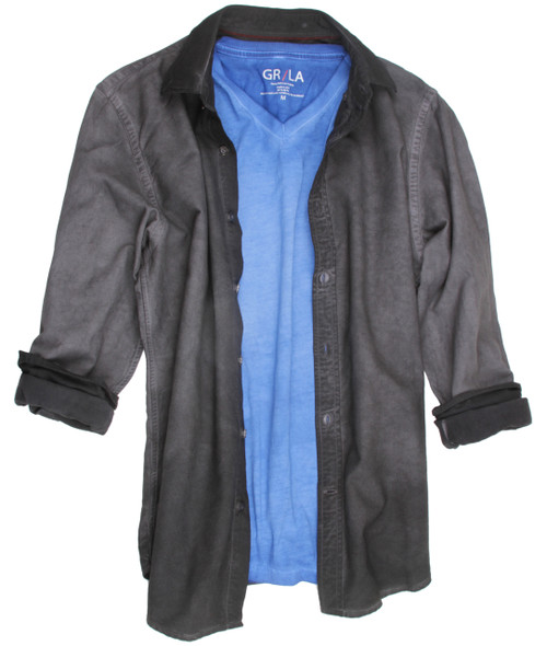 Frisco-24004W-Long-Sleeves-Garment Dyed - Men-Shirt/Overshirt