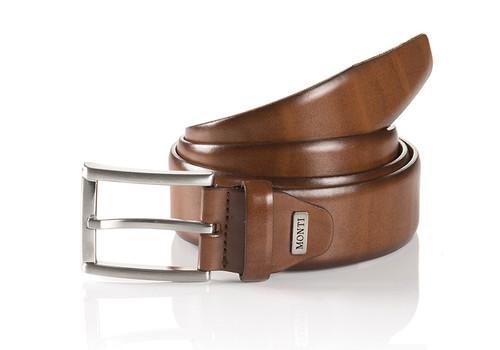 London 06 310-0000-6700 Cognac Business Leather Belt
