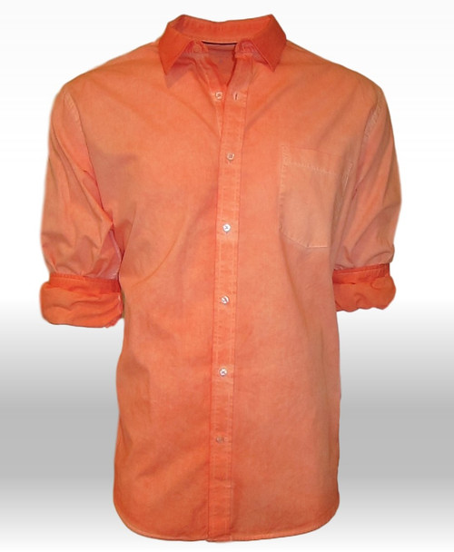 Hilton Head-24011W-020-Long-Sleeves-Garment Dyed-Cotton Shirt