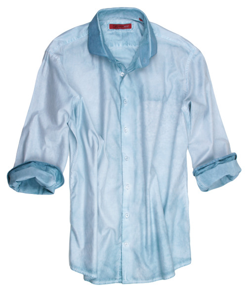 Laguna Beach-24013P-020-Long-Sleeves-Garment Dyed-Cotton Shirt