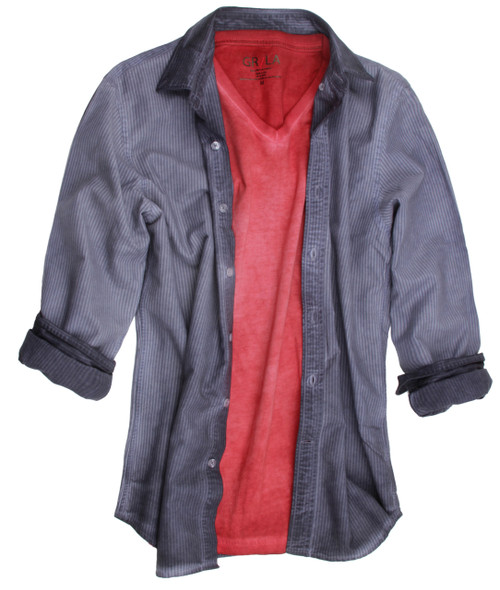 For that complete look, Georg loves to style the shirt with this soft T-shirt. Article GRLA-V-3000 (Go to T-Shirts) http://www.georgrothlosangeles.com/men-tshirt