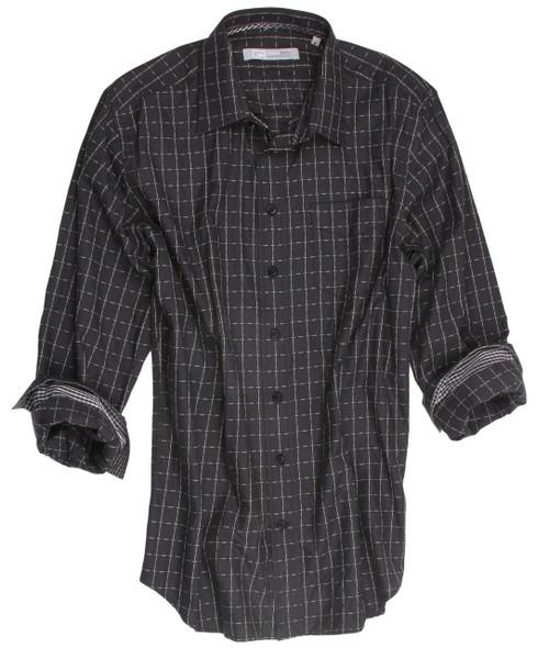 21044-038-Long-Sleeves Cotton Men's Shirt