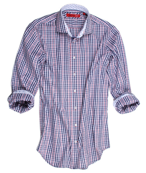 18012-020-Long-Sleeves Cotton Men's Shirt