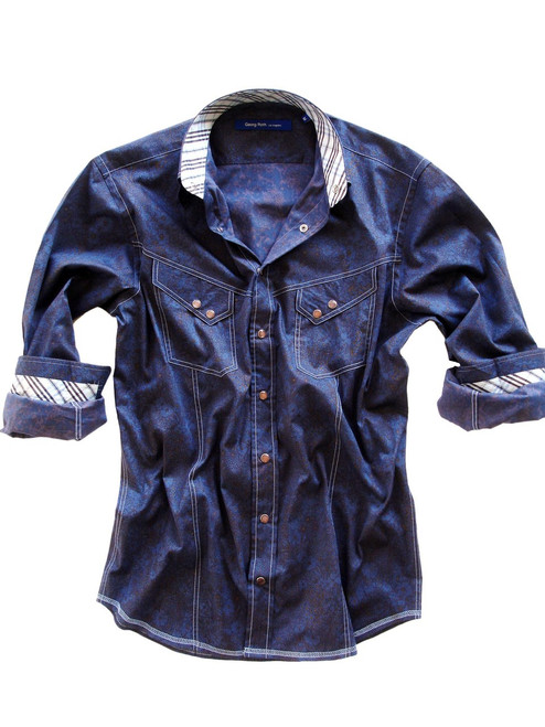 2095-005-Long-Sleeves-Snaps-Men's Shirt