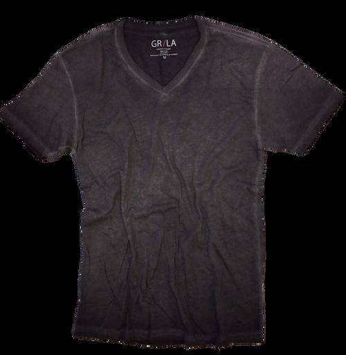 GRLA-V-7012-Basalt Grey-Short-Sleeves-Vintage washed-T-Shirt