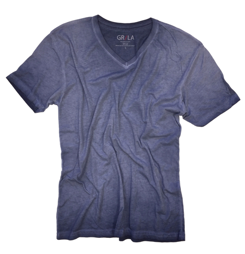 Men's Short Sleeves T-Shirt Color Capri Blue / Garment Dyed 60% Cotton / 40% Polyester