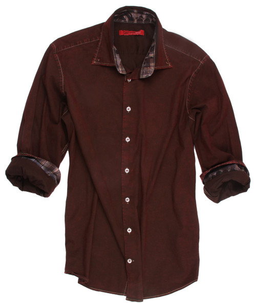 Waco-228113W-018-Long-Sleeves-Garment Dyed - Stretch-Mens Shirt