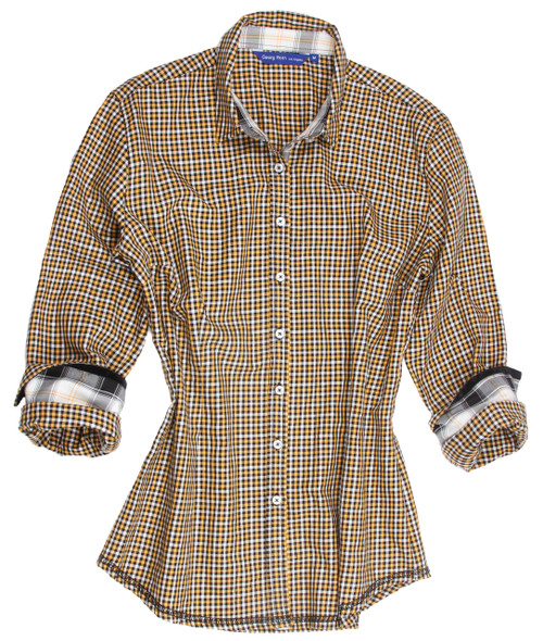 Angie B22016-800 Long Sleeves Equestrian Plaid
