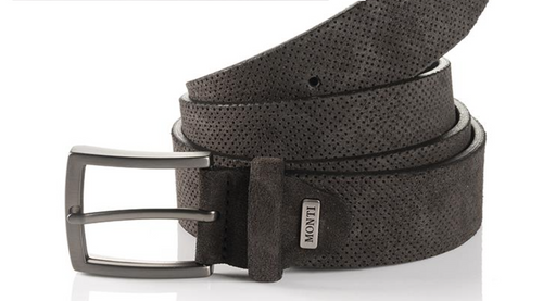 Madrid 06 313-0013-9200 Grey Suede Fashion Leather Belt