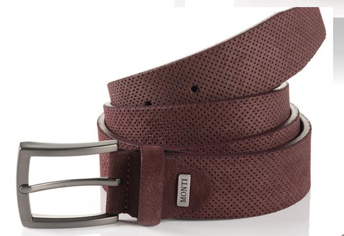 Madrid 06 313-0013-5000 Burgundy Suede Fashion Leather Belt