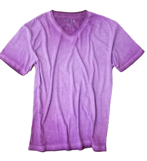 GRLA-V-4008-Plum-Short-Sleeves-dyed washed-T-Shirt