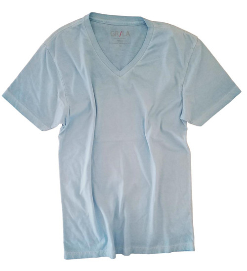 Men's Short Sleeves T-Shirt Color Turquoise/ Garment Dyed Sizes S - XXL 100% Cotton