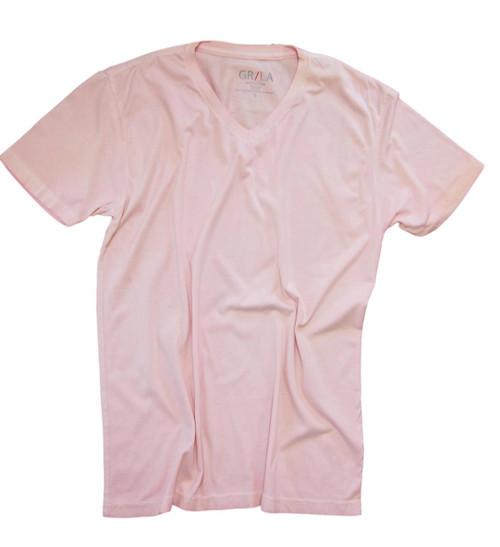 GRLA-V-3016-Pink-Short-Sleeves-Garment Dyed-T-Shirt