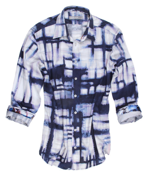 23009-038 Long Sleeves printed Men shirt