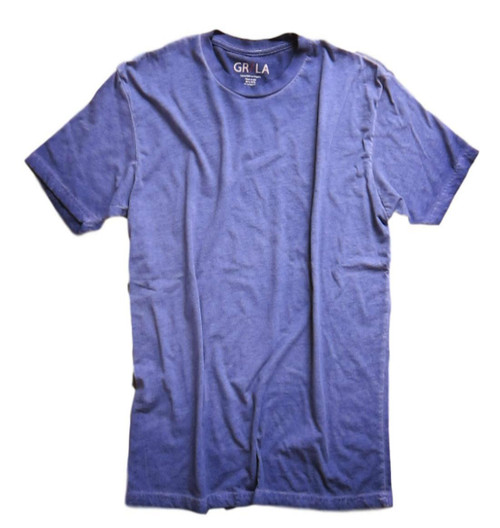 Men's Short Sleeves Crew T-Shirt Color Purple / Garment Dyed 60% Cotton / 40% Polyester