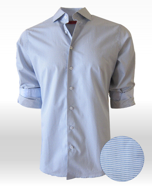 Mexico City 34001-020 Mens Long Sleeve Pima Cotton Mens Shirt