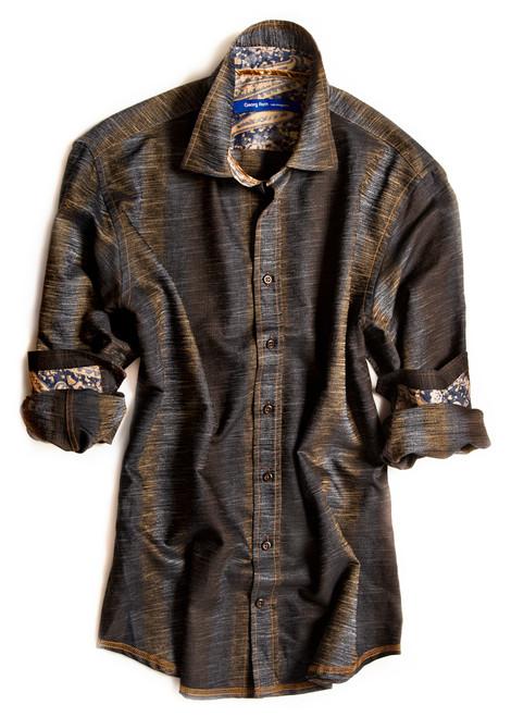 Boca Del Rio-8033-006-Big and Tall Long Sleeves Men Shirt