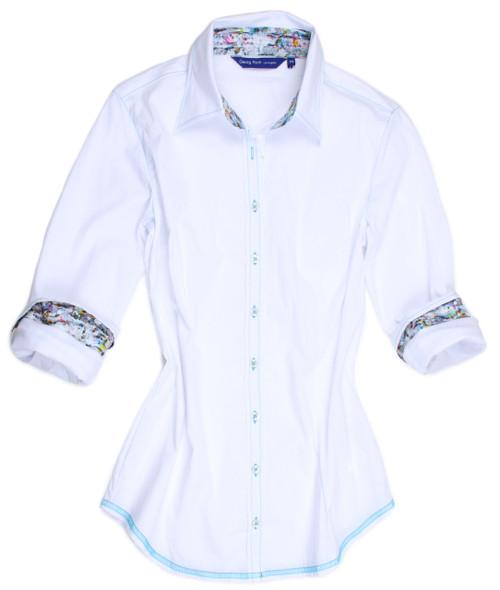 White Summer B8095-700(C)-Long Sleeves Stretch