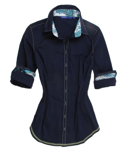 Lara-B8102-700B-Long-Sleeves Stretch Blouse