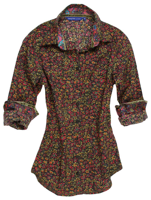 Dominique B90034-700 Long Sleeves Liberty of London printed Blouse