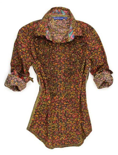 Maria B90038-706 Long Sleeves Mini Ruffle, Liberty Of London printed Blouse
