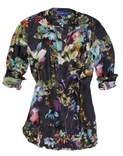 Sasha B7067-760 Long Sleeves Relaxed Tunic, Silk