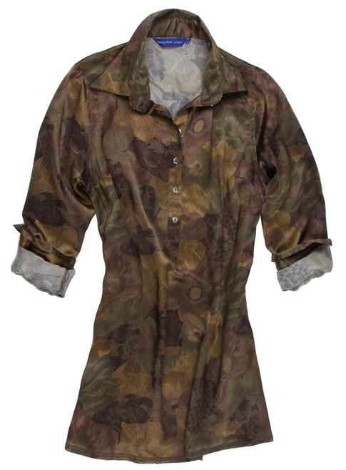 Ariella B50020-703 Silk Long Sleeves Tunic