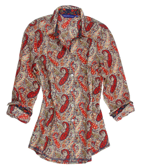 Debbie B12036-800 Long sleeves Liberty of London Printed Cotton Blouse