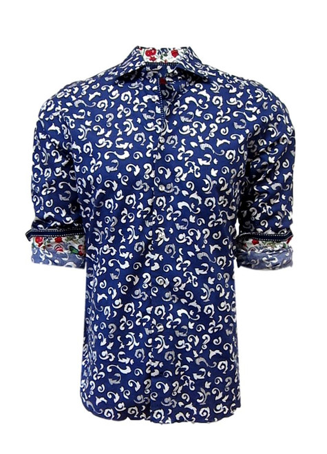 California-14011-042-Long-Sleeves Men Shirt