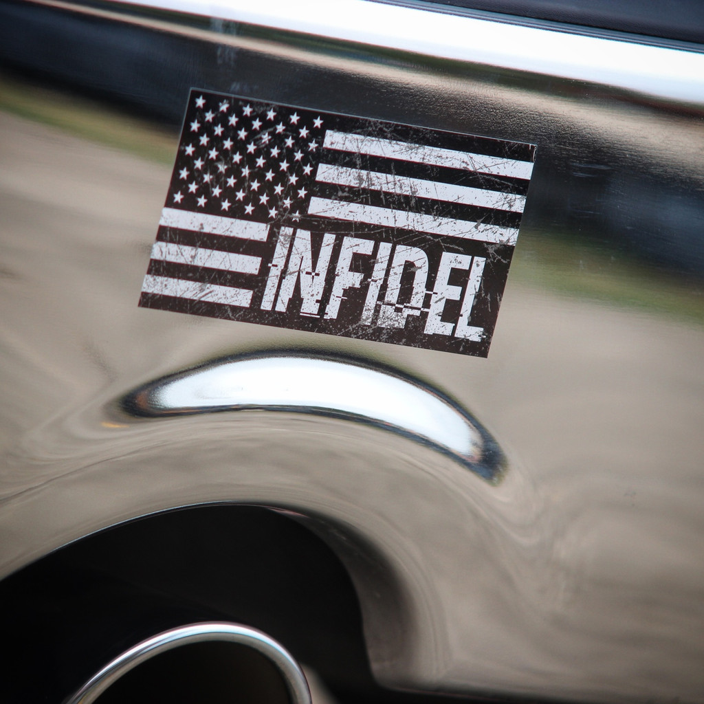American Flag Infidel - Sticker