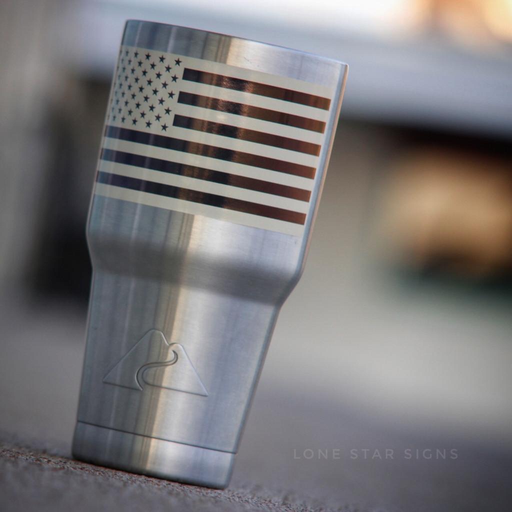 American Flag Inverted Tan - Sticker