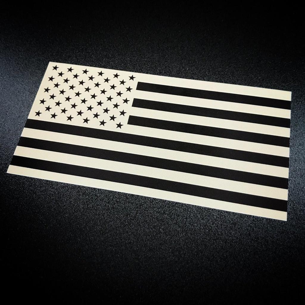 American Flag inverted tan sticker