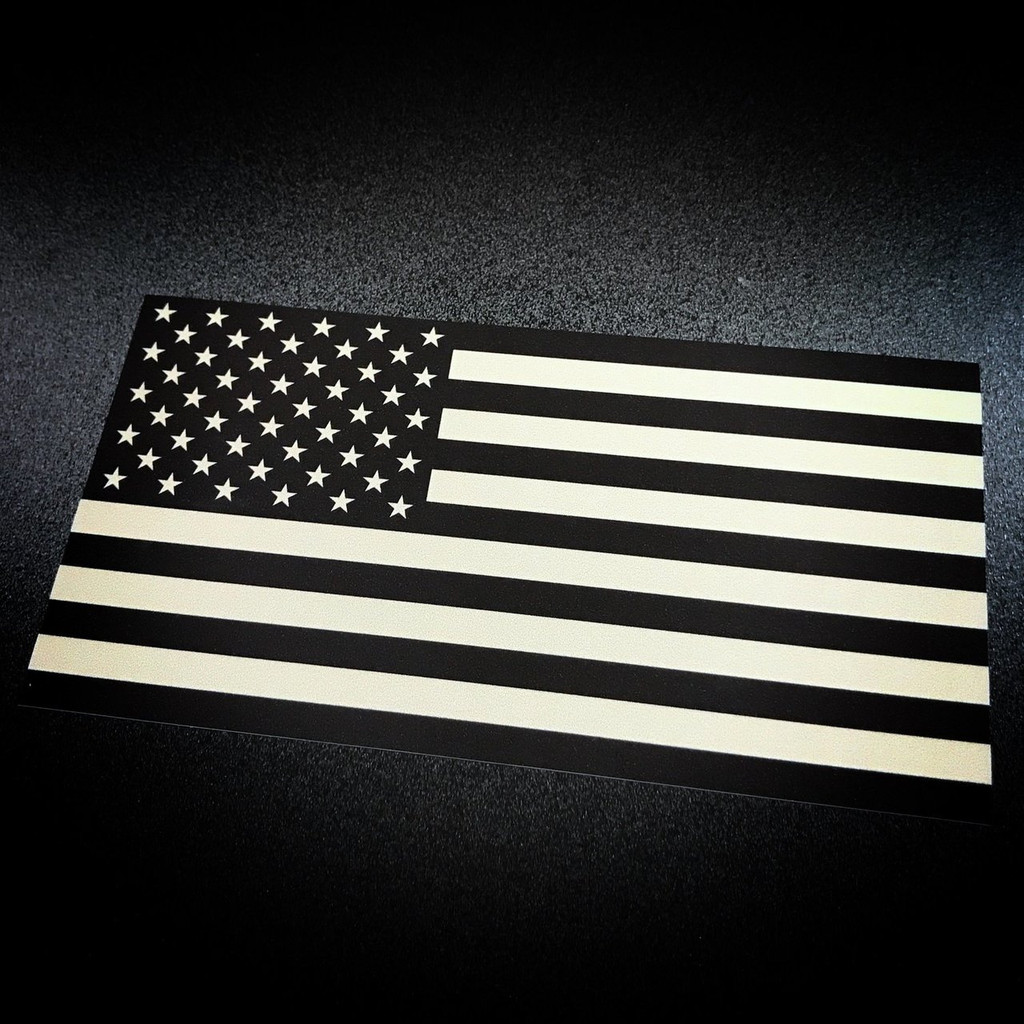 Tan American Flag sticker