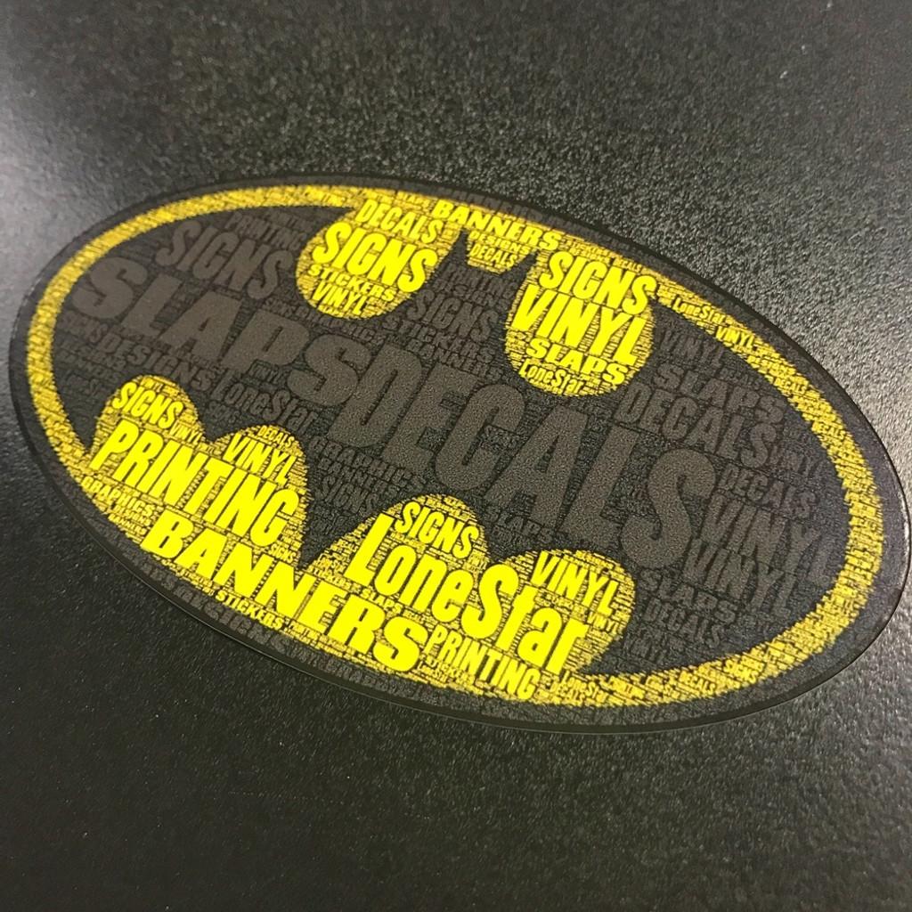 Batman w/ words - Sticker
