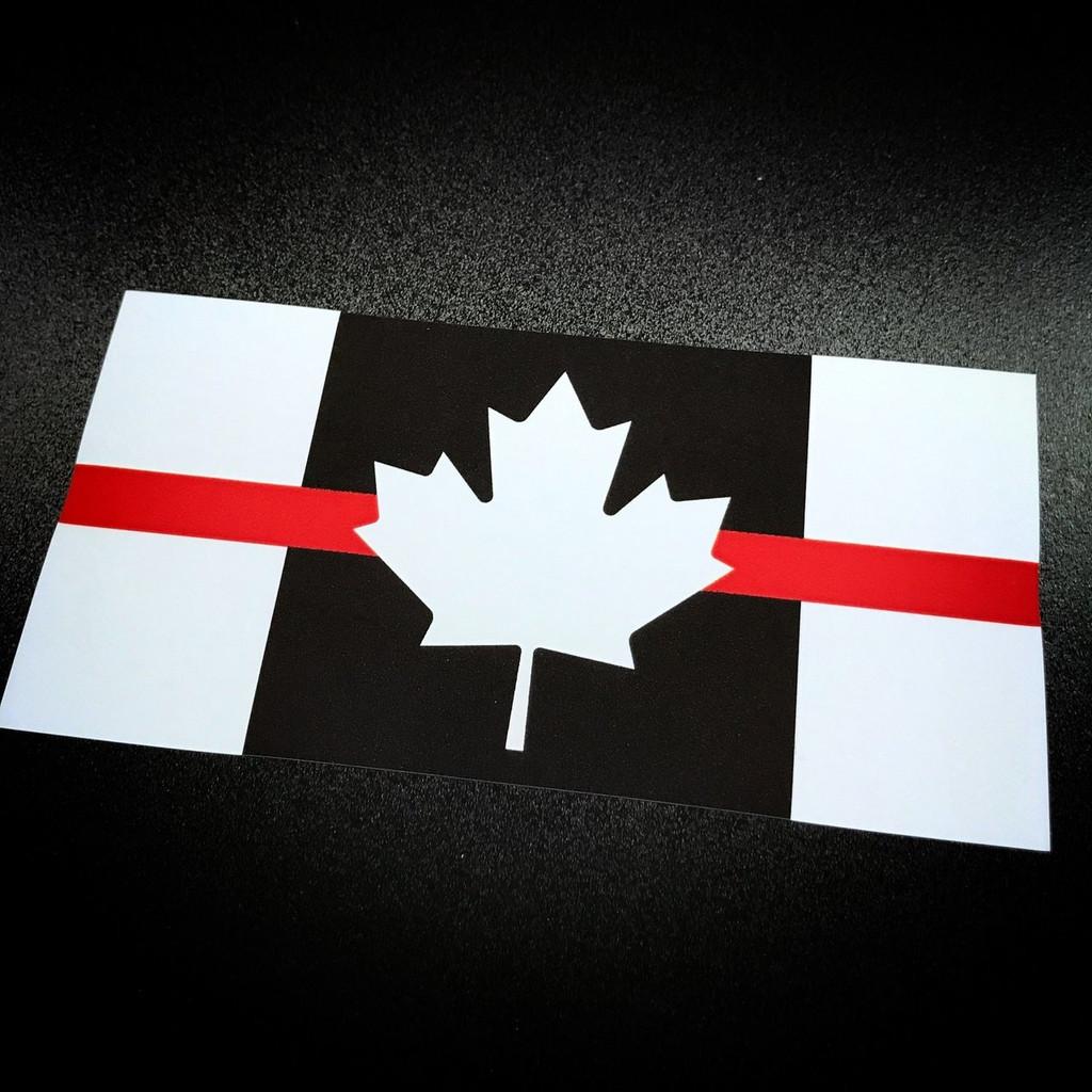 Canada Flag Red Stripe - Sticker