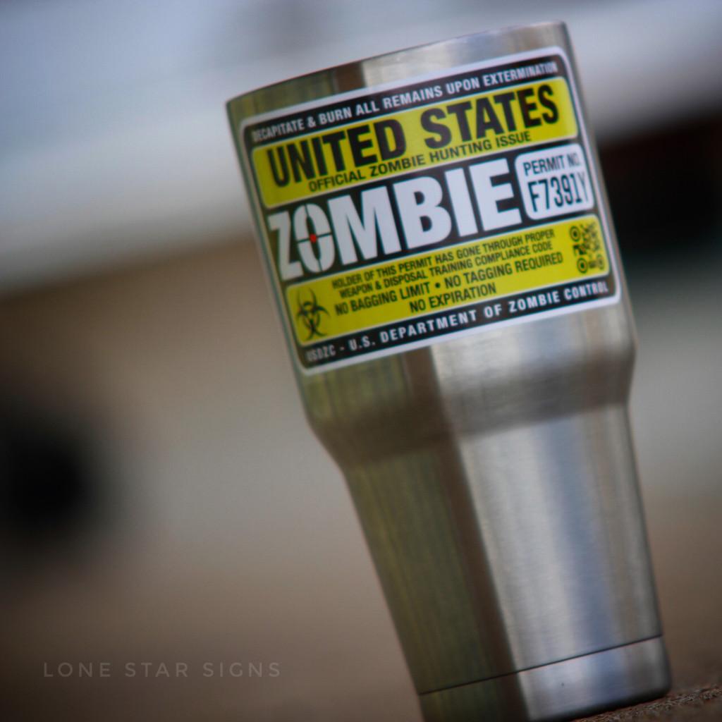 Hunting Permit - Zombie Sticker