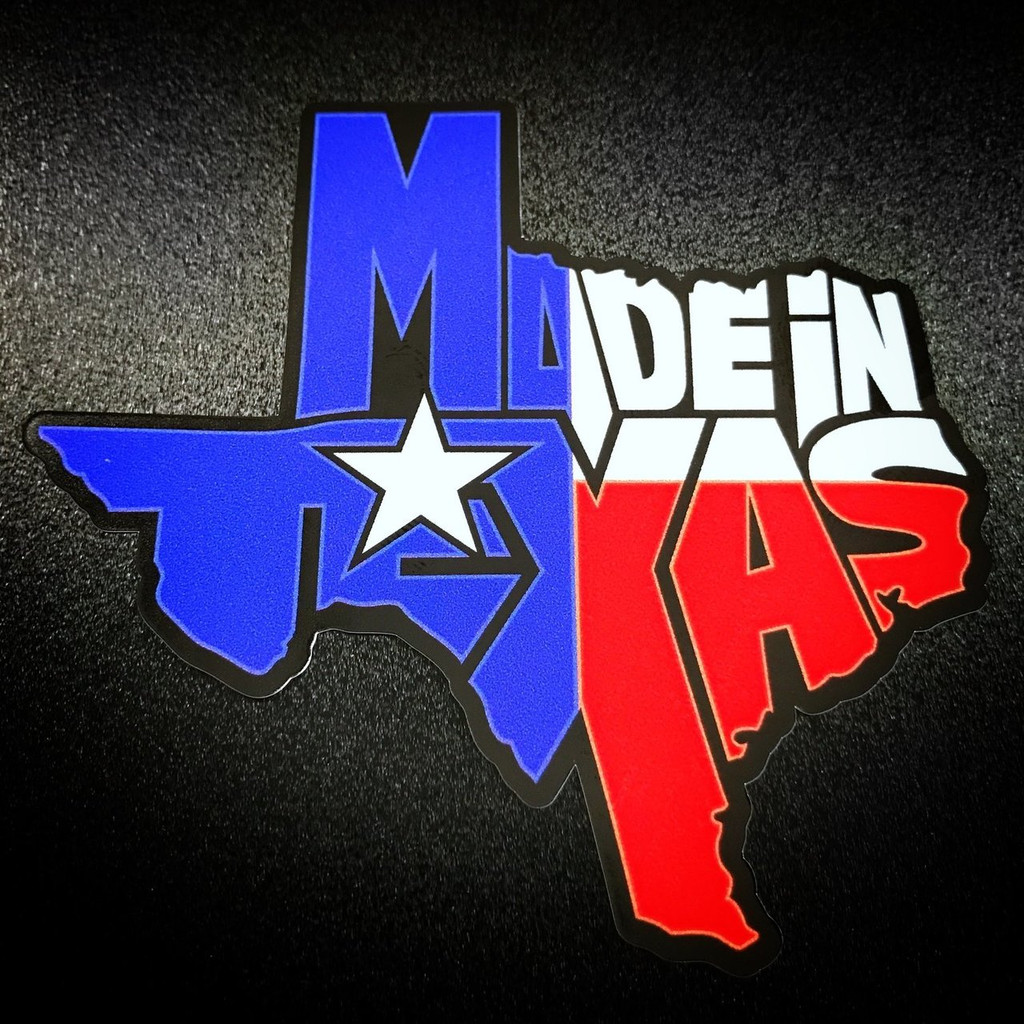 Made In Texas Red White Blue - Sticker