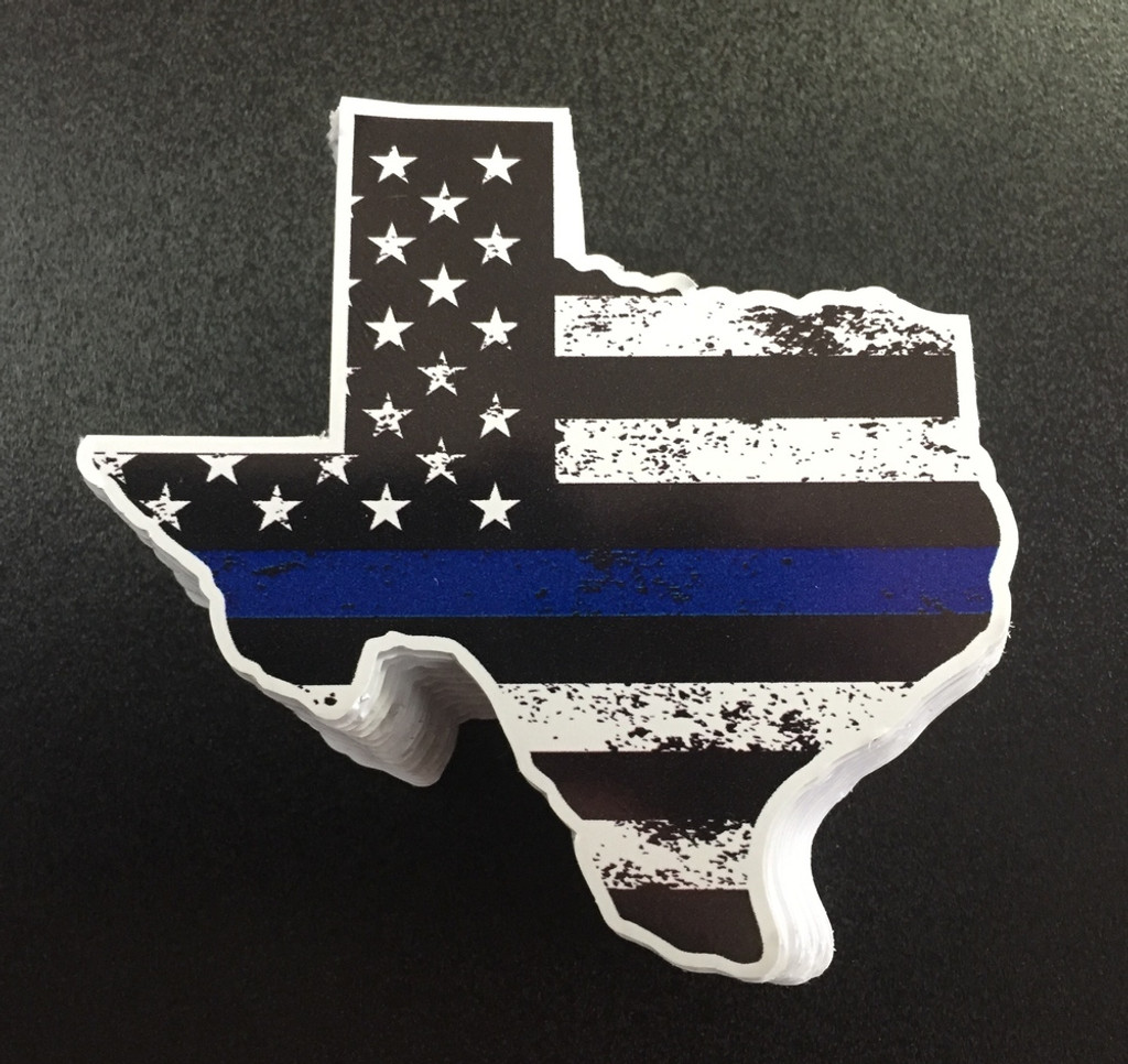 Texas Blue Stripe Large - Sticker