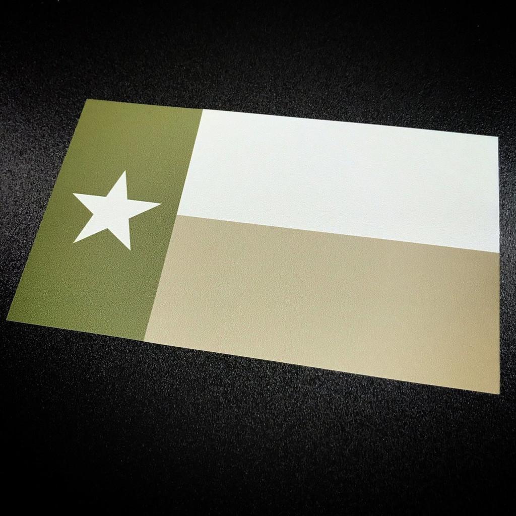 Texas Flag Green - Sticker