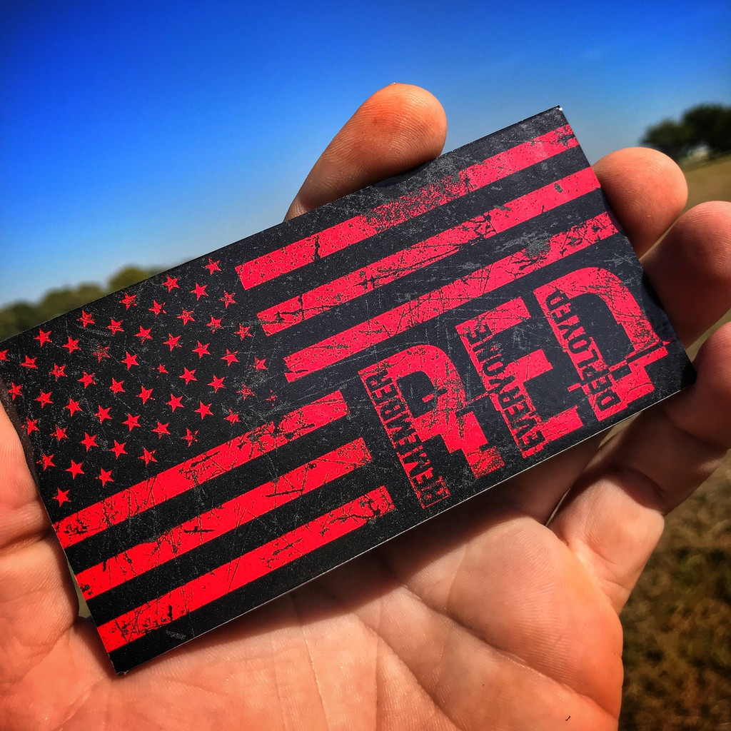 Remember Everyone Deployed Flag - Sticker
