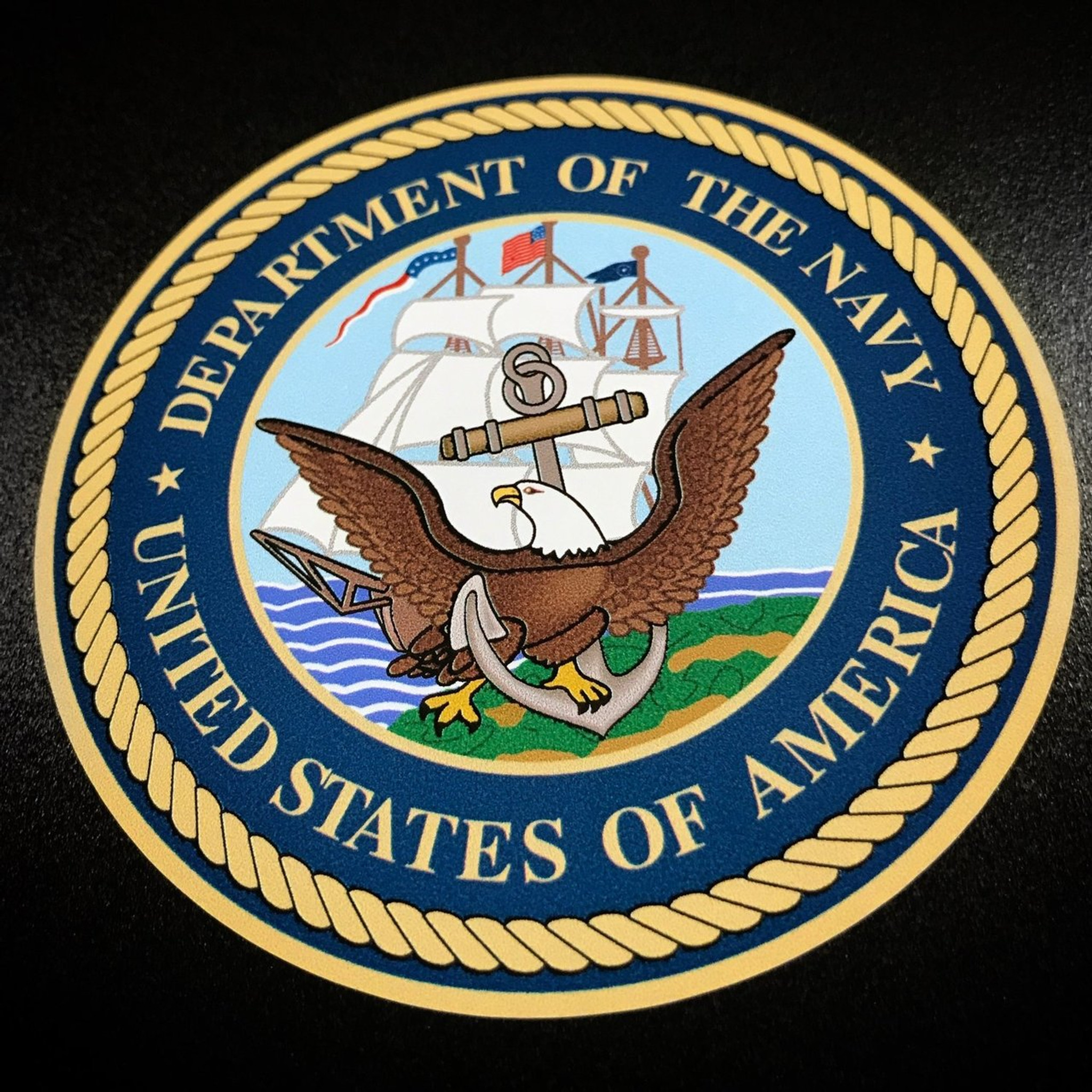 Department Of The Navy Circle Sticker