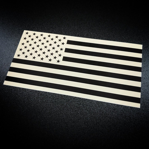 American Flag inverted tan sticker