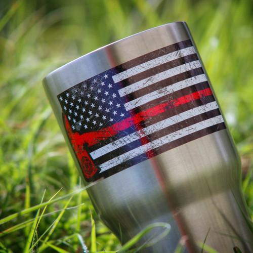 American Firefighter Rex Axe sticker in the wild