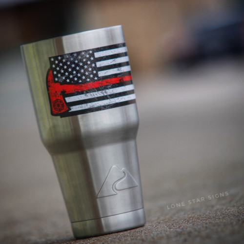 American Flag Red Axe - Sticker